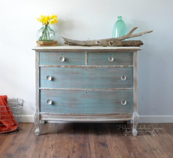 beachy wood plank dresser, helen nichole designs